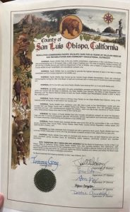 Photo of Proclamation Certificate